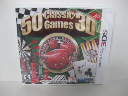 50 Classic Games 3D (SEALED) - Nintendo 3DS Game